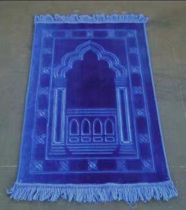 70*110cm Blue Color Raschel Mat Prayer Mat Carpet