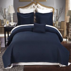 Hotel Sell Home/Hotel Checkered Quilt Microfiber Coverlet (DPF1074) pictures & photos