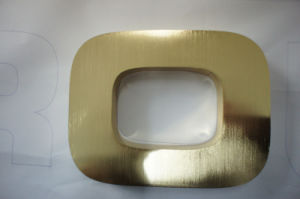 Titanium Finish Built up 3D Gold Polished Brass Stainless Steel Letter pictures & photos