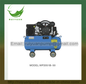 High Quality 50L 2 Position Silent Oil Free Belt Driven Air Compressor pictures & photos