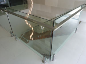 Stairwell Square Spigot Glass Railing pictures & photos