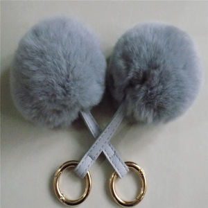 Wholesale Cute Rabbit Fur Balls Elastic Hair Bands pictures & photos