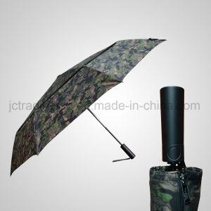 Automatic Open&Close Double Layer Golf 3 Folding Rain /Sun Umbrella (JF-AGF308) pictures & photos