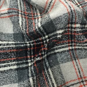 Ready/Stock Classical Check Wool Fabric Red, Gray & White pictures & photos