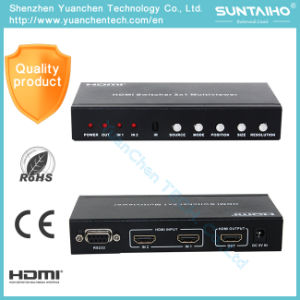 V1.4 HDMI 2X1 Multi-Viewer HDMI Switcher with Pip pictures & photos
