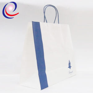 Fashion Flat Handle Design Printed Kraft Paper Bag Wholesale