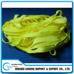 Custom Knitted 7mm Flat Colour Elastic Band for N95 Dust Mask pictures & photos