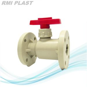 PVC Water Valve with Flange End DIN Pn10 pictures & photos