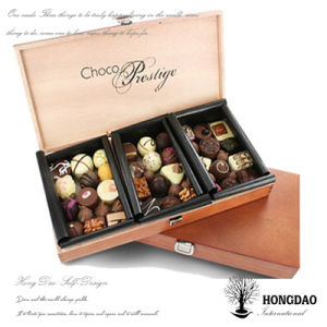 Hongdao Custom Wooden Chocolate Packaging Box Wholesale_C pictures & photos