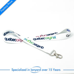 Custom Flat Polyester Printed Lanyard with Climbing Buckle pictures & photos