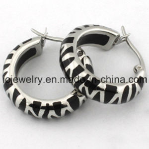 Black Enamel Surgical Steel Stud Earrings pictures & photos