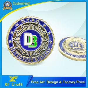 Customized Promotion Metal Challenge Souvenir Commemorative Brass Coin /Souvenir Medallion No Minimum (XF-CO14) pictures & photos