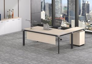 Black Customized Metal Steel Office Executive Table Leg Ht73-2 pictures & photos