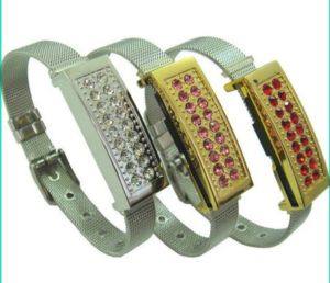 Crystal Bracelet USB Flash Drive with Three Colors pictures & photos