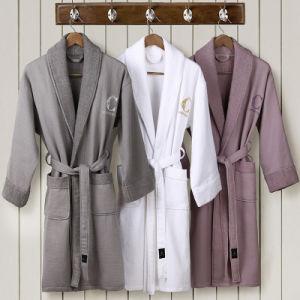 China Towel Factory Made OEM Customer Cotton White Hotel Bathrobe