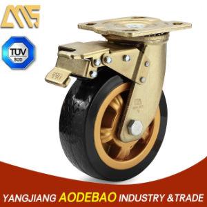 Heavy Duty Double Brake PVC Caster Wheel pictures & photos