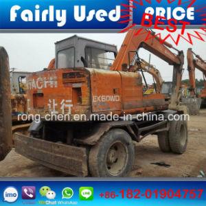 Original Used Hitachi Ex60wd Excavator of Hitachi Small Wheel Excavator