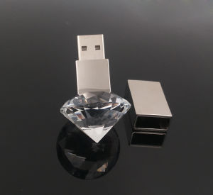 3D Inside Logo Custom Photography Glass Crystal USB 2.0 Flash Drive Memory pictures & photos