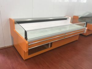 Air Cooling Open Top Sushi Display Cooler with Night Curtain pictures & photos