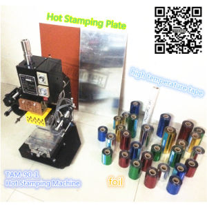 Tam-90-1 Book Cover Hot Foil Stamping Machine on Paper Plastic pictures & photos