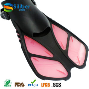 Hot Sale Swimming Fins Adjustable Submersible Long Fins Snorkeling Foot Swimming Flipper Diving Fins pictures & photos