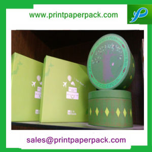 Custom New Design Round Shape Cardboard Gift Paper Box Jewelry Box with Logo Printing pictures & photos