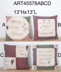 Patchwork+Handstitched Country Pillow Home Decoration-4asst. pictures & photos