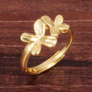 Copper Open Adjustable Fashion Designer Flower Woman Rings Jewelry pictures & photos
