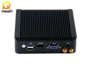 Industrial Fanless Mini PC with 4 LAN Black Chasiss Baytrail J1900 Processor pictures & photos