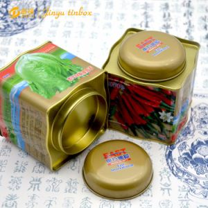 Square Shaped Double Lid Pepper Seeds Package Tin Box pictures & photos