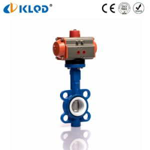Dn50 Iron Body Pneumaitc Butterfly Valves with PTFE Sealing pictures & photos