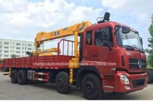 270hp 8x4 Heavy Duty Lorry 14t Truck Mounted with Crane pictures & photos