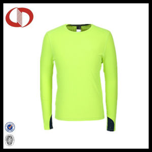 Long Sleeve Breathable Polyester Running Shirts for Men pictures & photos