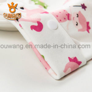 Organic Cotton Print Cute Baby Drool Cover Infant Baby Bibs pictures & photos