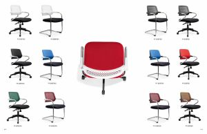 Modern Colorful Office Furniture Folding Conference Stacking Chair pictures & photos