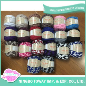 DIY Hand Knitting Textile 100%Polyester Tape Fabric Yarn for Handbag pictures & photos