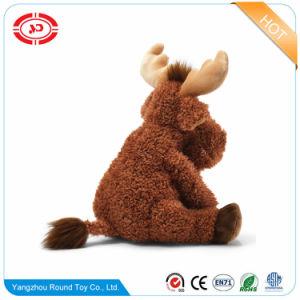 Fluffy Plush Custom Moose Xmas Reindeer Soft Stuffed Animal Toy pictures & photos