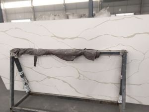 Popular Calacatta Veins Quartz Stone for Countertops pictures & photos