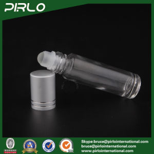 10ml Clear Glass Roll on Bottle with Glass Roller and Silver Cap pictures & photos