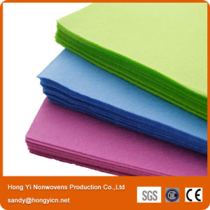 Home Application Non-Woven Fabric Kitchen Cloth, Viscose and Polyester Cleaning Cloth