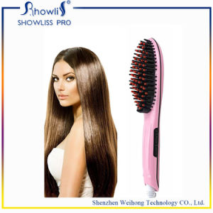 Anti Scald Automatic Pink Hair Straightener Brush pictures & photos