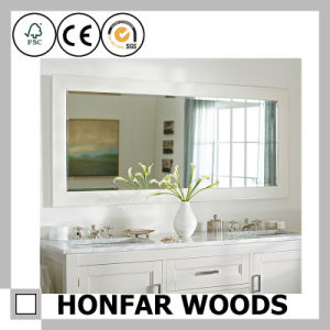 Classical Brown Finished Bathroom Decorative Wood Mirror Frame pictures & photos
