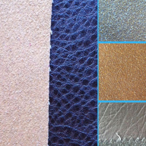 Bonded PU Leather for Bags Shoes Decortation (HS-M374) pictures & photos