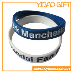 Promotional Debossed Logo Silicone Bracelet Gifts (YB-SW-03) pictures & photos