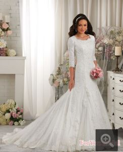 Muslim Long Sleeve Lace Bridal Ball Gowns Wedding Dresses Y1020 pictures & photos