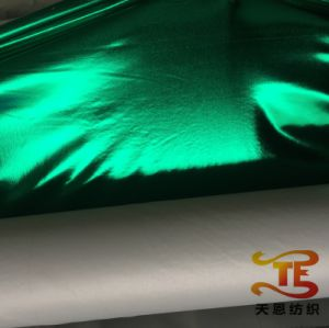 Gold Stamping Foiling Polyester Fabric for Garment Foiling Stage Clothing Fabric pictures & photos
