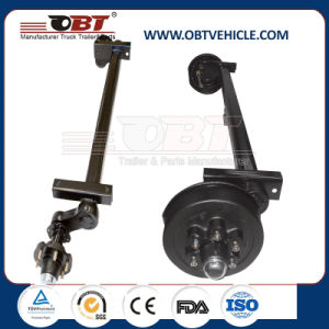 Obt Light Duty Rubber Torsion Axle with Mechanical Drum Brake pictures & photos