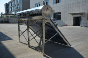 Ce Approved Inox SUS304 Vacuum Tube Solar Water Heater with Automatically Assistant Tank pictures & photos