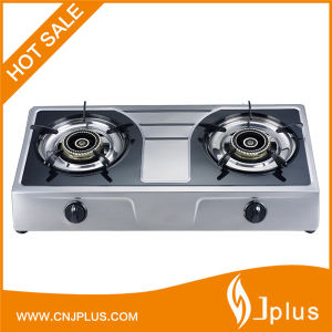 Double Burner Gas Stove with Bigger Fire, Stainless Steel (JP-GC209) pictures & photos