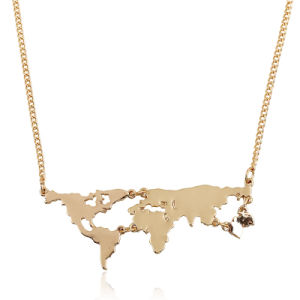 Fashion World Map Pendant Necklace Jewelry pictures & photos